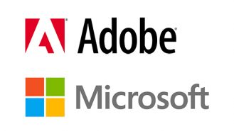 logos for adobe and microsoft